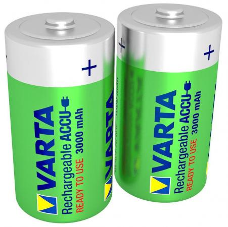 Батарейки 3000 mAh Varta R2U D 2 шт батарея аккумуляторная varta d r2u 3000 мач 2 шт