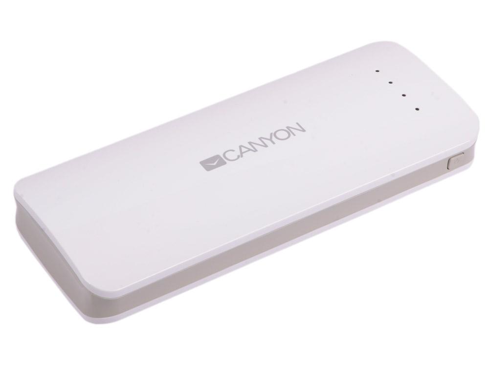 Внешний аккумулятор Canyon CNE-CPB156W внешний аккумулятор canyon 13000mah 2xusb cne cpbf130dg серый