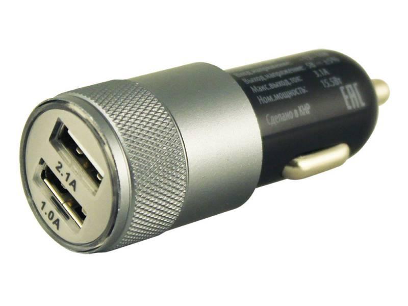 Автомобильное зарядное устройство Buro TJ-189 2.1/1А 2х USB черный автомобильное зарядное устройство buro tj 186 2 4а usb черный