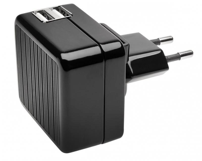 Сетевое зарядное устройство Kensington K39690EU 2.1A 2х USB черный