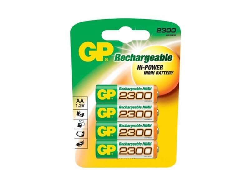 Аккумулятор 2300 mAh GP 230AAHC-2CR4 AA 4 шт gp 230aahc 2cr2
