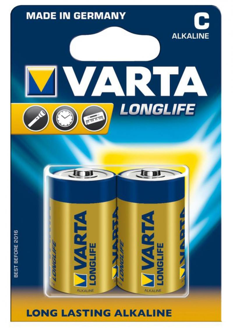 Батарейки Varta Longlife C LR14 2 шт батарейки varta energy c lr14 2 шт