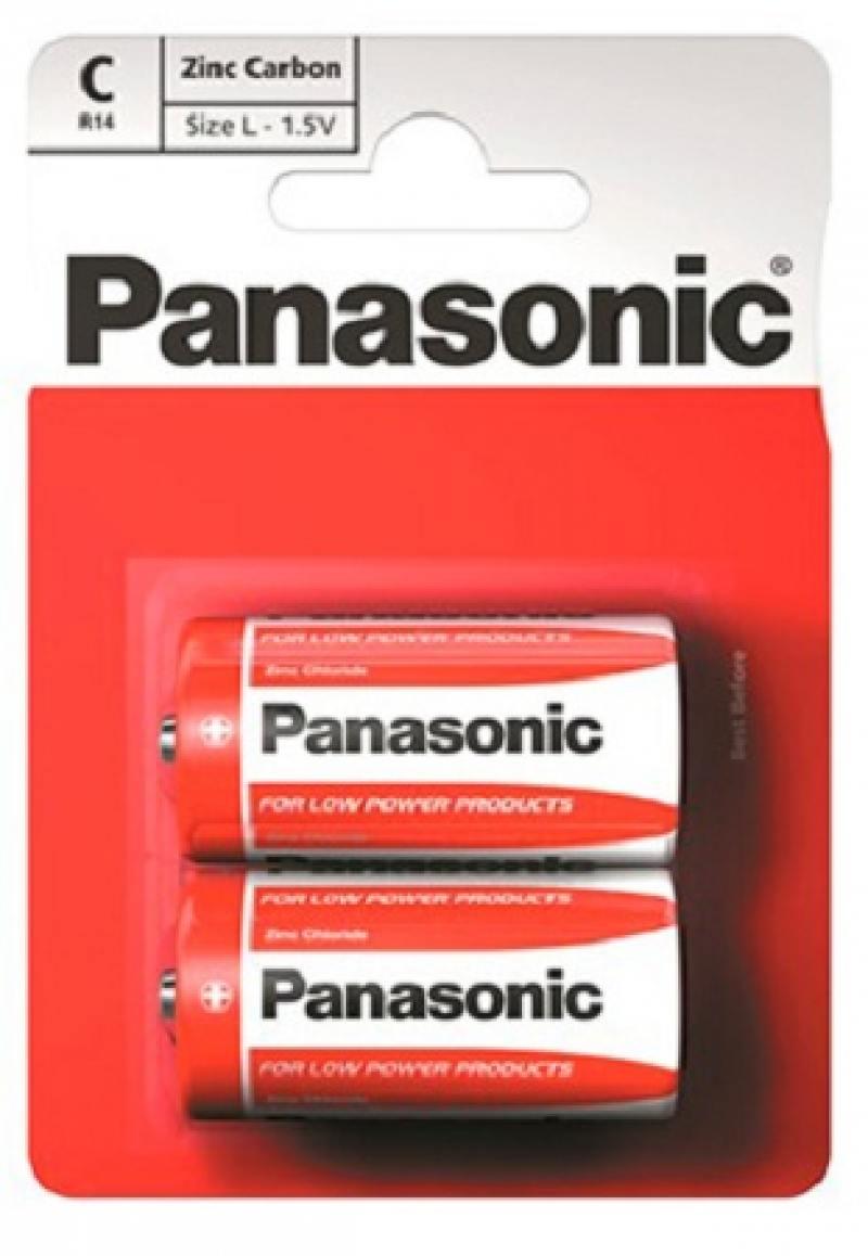 Батарейки Panasonic Carbon R14RZ/2B 2 шт