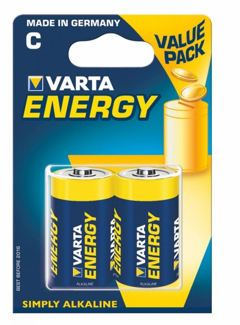 Батарейки Varta Energy C LR14 2 шт