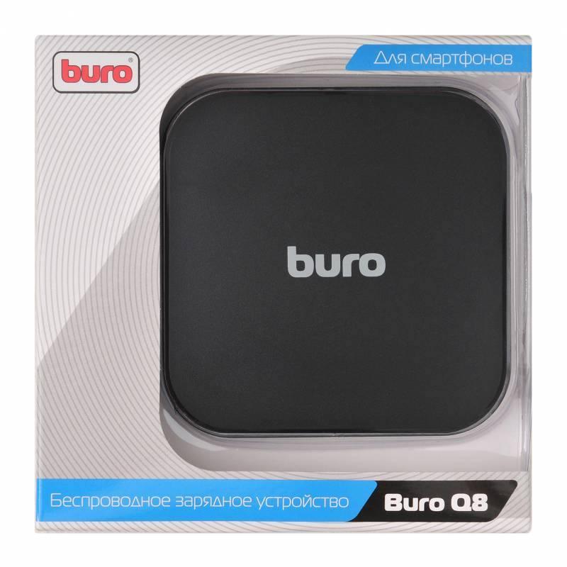 Беспроводное зарядное устройство Buro Q8 1A microUSB 2х USB черный