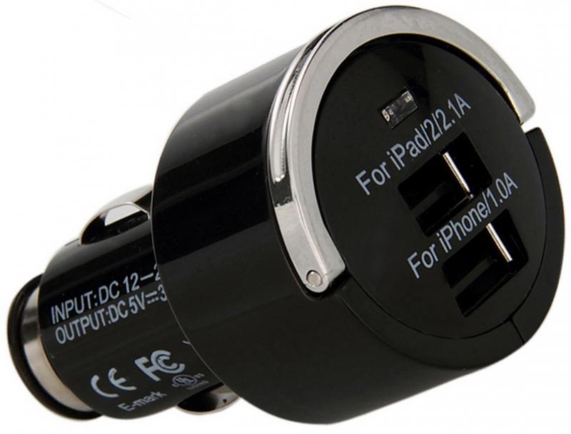 Автомобильное зарядное устройство Wiiix UCC-2-5B 2.1A черный