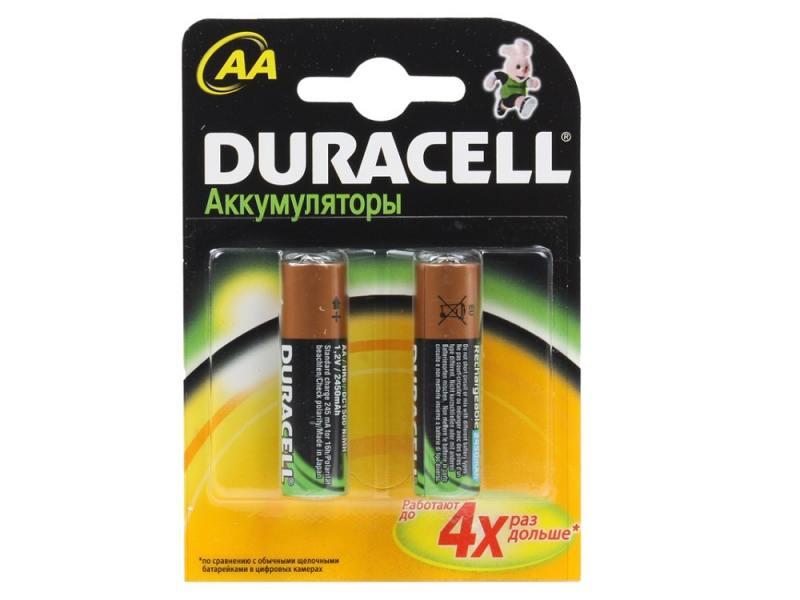 Аккумулятор 2500 mAh Duracell TURBO HR6-2BL AA 2 шт аккумулятор 2500 mah duracell turbo hr6 4bl aa 4 шт