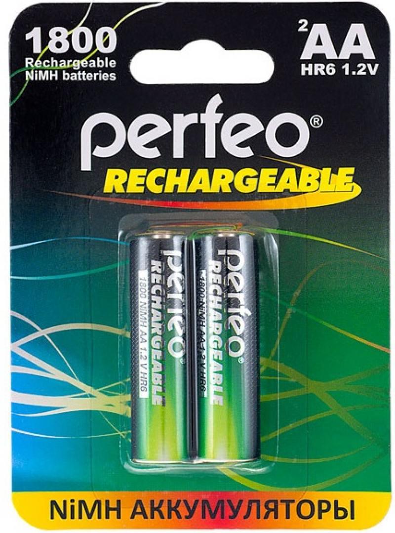 Аккумуляторы 1800 mAh Perfeo AA1800mAh/2BL AA 2 шт аккумуляторы 2100 mah perfeo aa2100mah 2bl aa 2 шт page 7