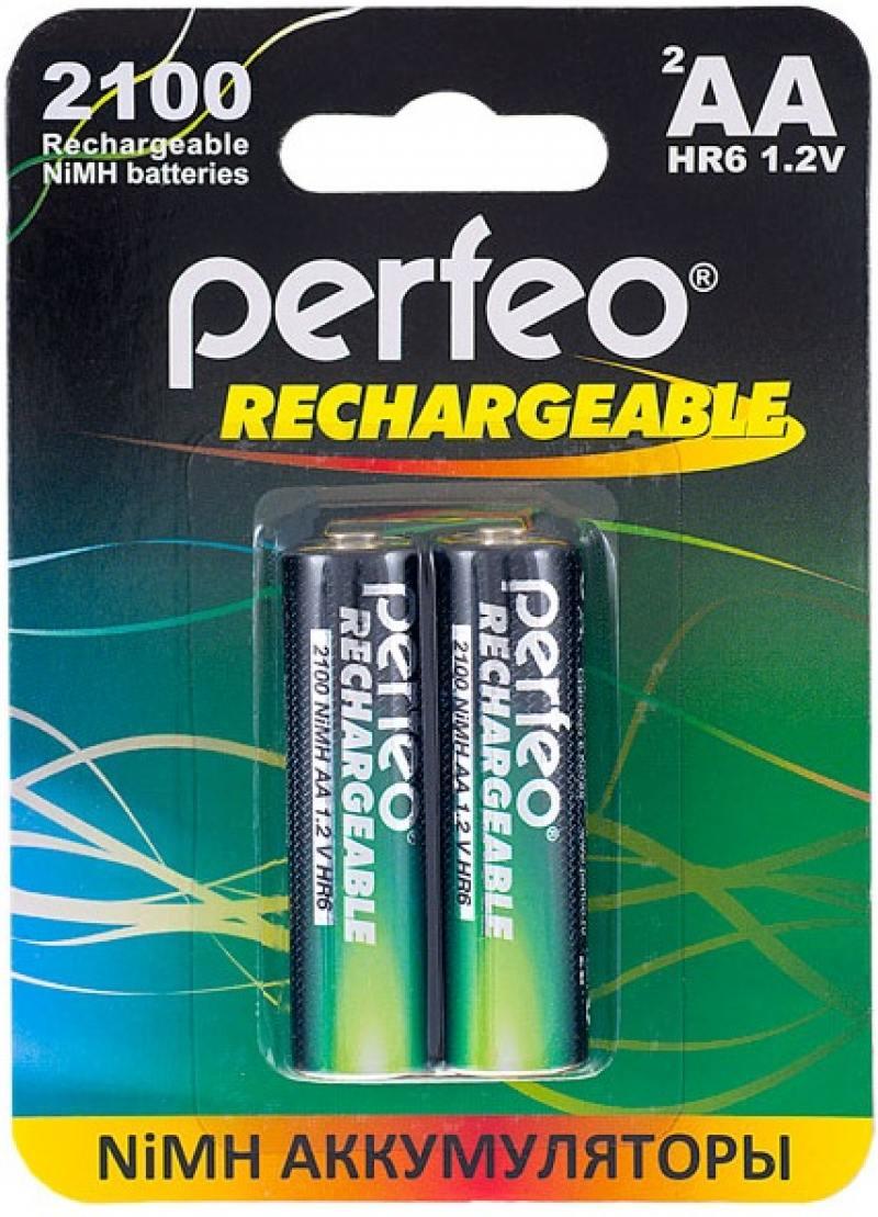 Аккумуляторы 2100 mAh Perfeo AA2100mAh/2BL AA 2 шт аккумуляторы perfeo aa2500 2bl 2500 mah aa 2 шт