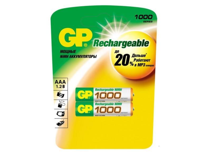 Аккумулятор 1000 мАч GP 100AAAHC-CR2 AAA 2 шт аккумулятор varta 05703301412 1000 мач aaa 2 шт