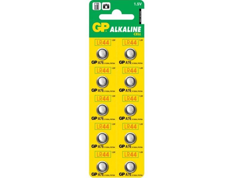 Батарейки GP A76-B/F(2)C10 LR44 10 шт