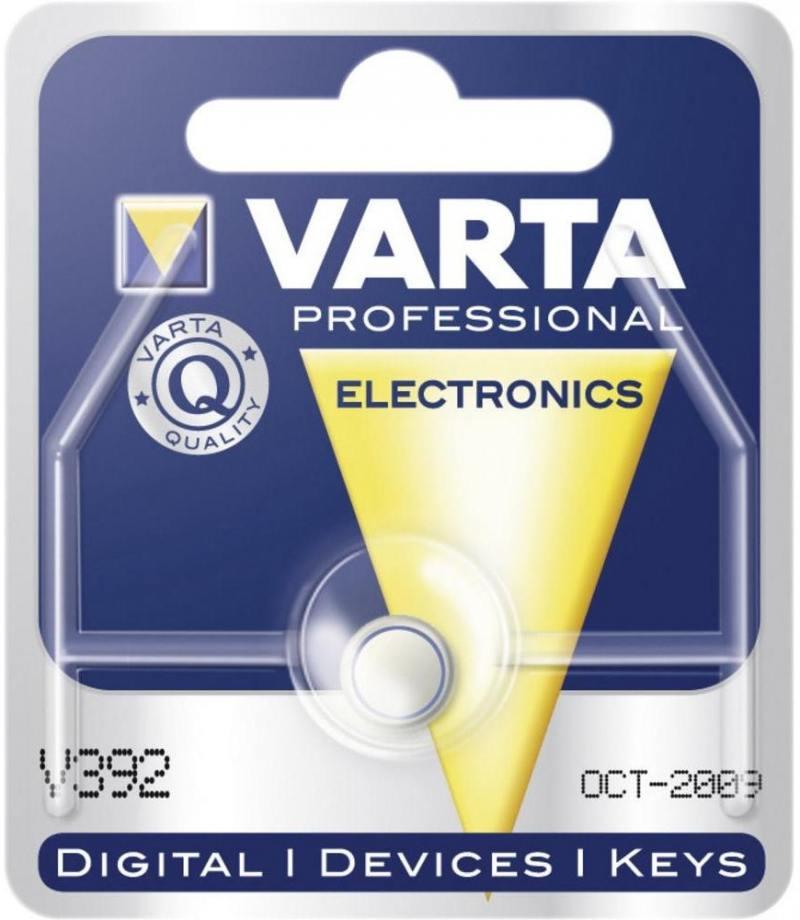 Батарейка Varta V 392 SR41W LR41 1 шт батарейка varta 317 01862