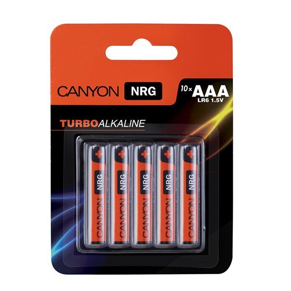 Батарейки CANYON LR06 (AAA) Alkaline (10шт)