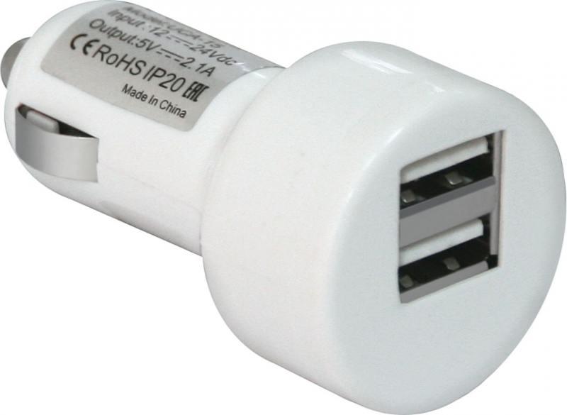 Автомобильное зарядное устройство Defender UCA-15 2А 2хUSB белый 83562