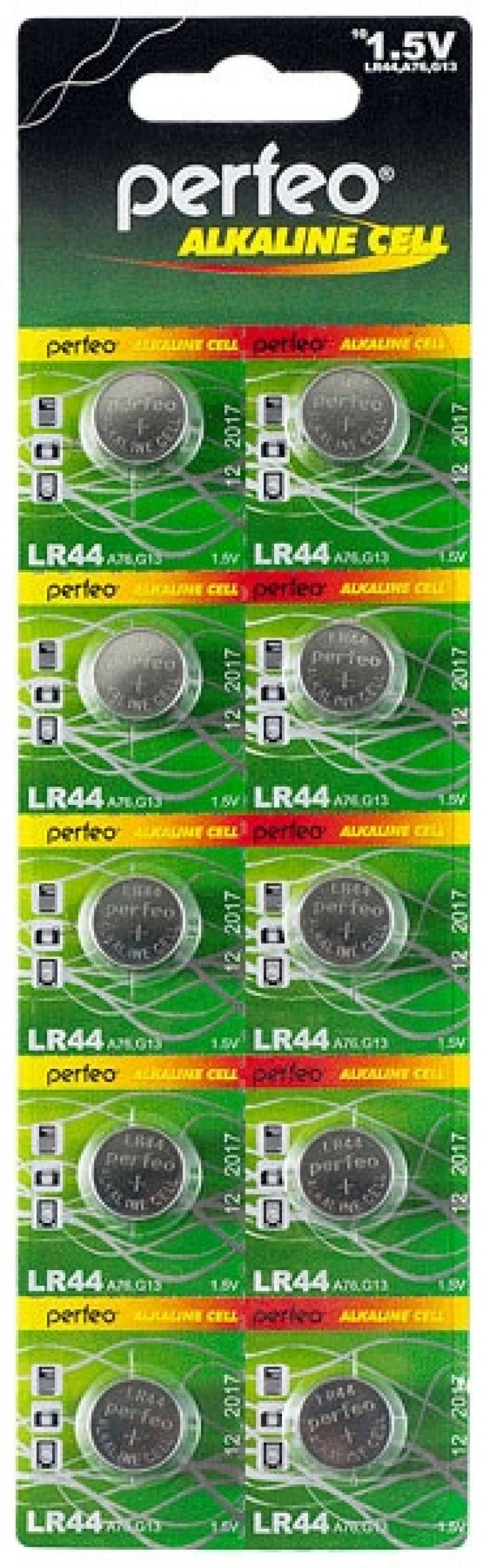 Батарейки Perfeo LR44/10BL Alkaline Cell 357A AG13 LR44 10 шт