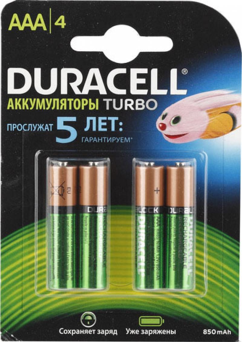 Аккумулятор 850 mAh Duracell HR03-4BL AAA 4 шт аккумуляторы hr03 aaa duracell ni mh 850 mah 4шт