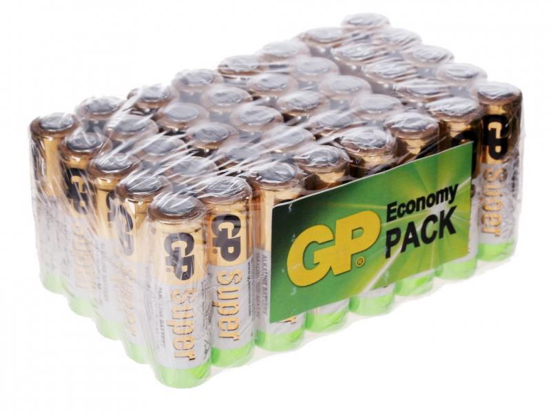 Батарейки 1500 mAh GP Super Alkaline LR6 40 шт GP 15A-B40 gp gl301we 2b1