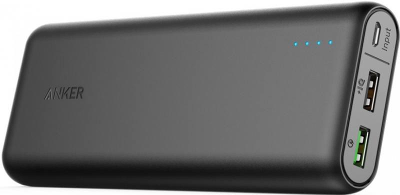 Портативное зарядное устройство Anker PowerCore 20000 QC 3.0 Black Offline Package V3 A1272H11