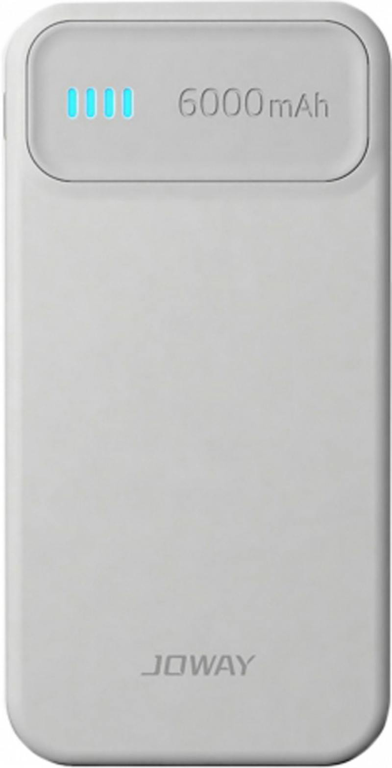 Внешний аккумулятор Joway JP61 6000 mAh белый серый аккумулятор gopro portable power pack 6000 mah azpbc 001