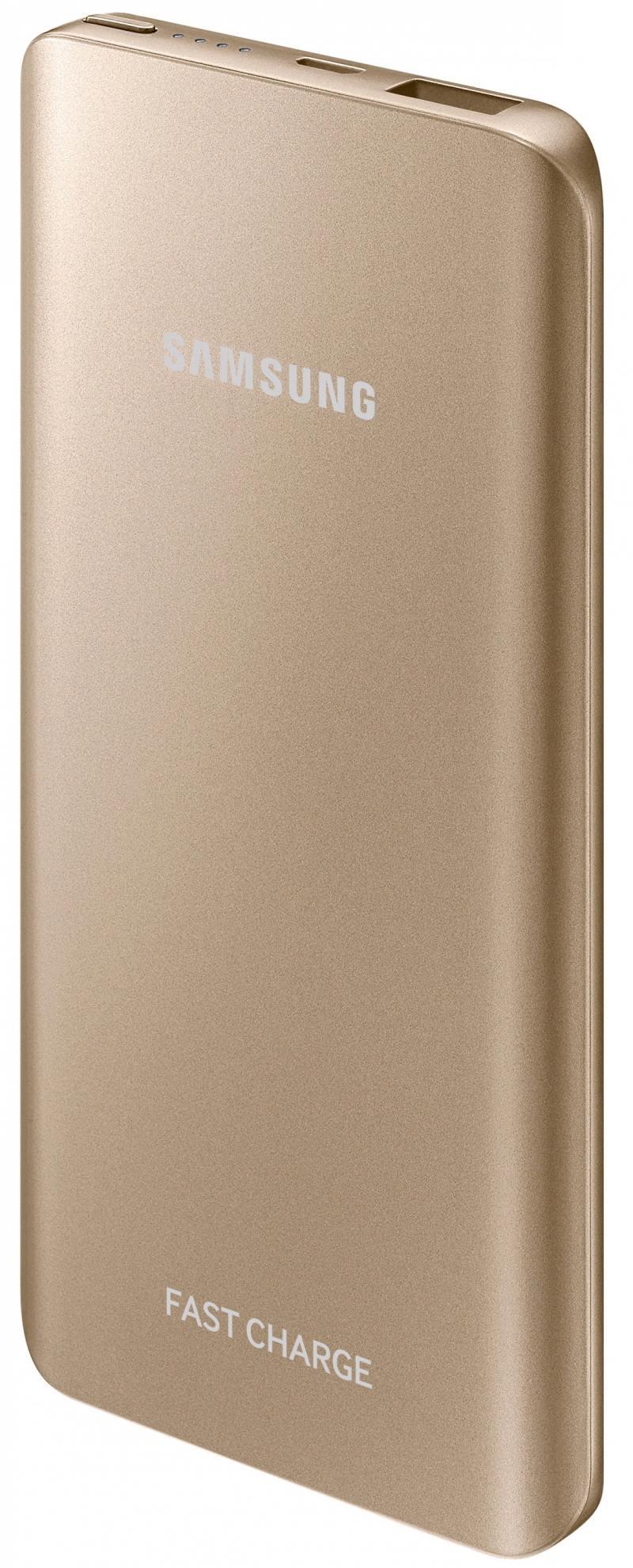 Портативное зарядное устройство Samsung EB-PN920UFRGRU 5200mAh универсальный microUSB золотистый