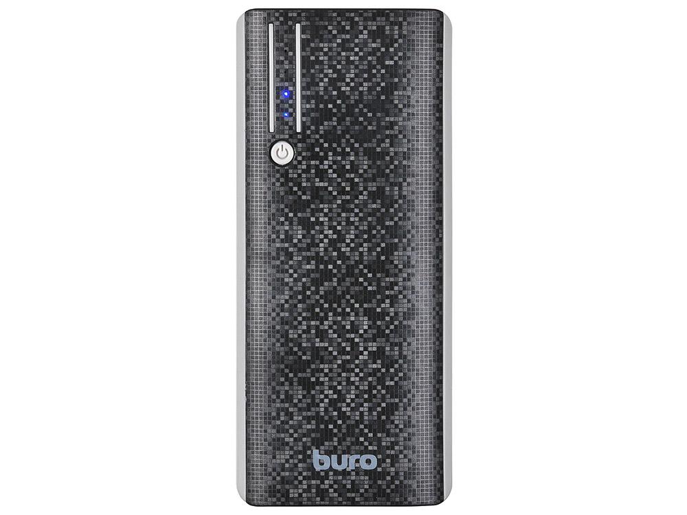 Портативное зарядное устройство Buro RC-10000 10000мАч черный/серый портативное зарядное устройство ritmix rpb 10001l 10000мач черный