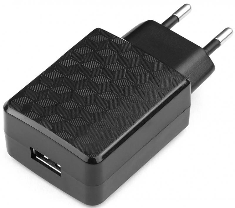 Сетевое зарядное устройство Cablexpert MP3A-PC-06 2А USB черный цена