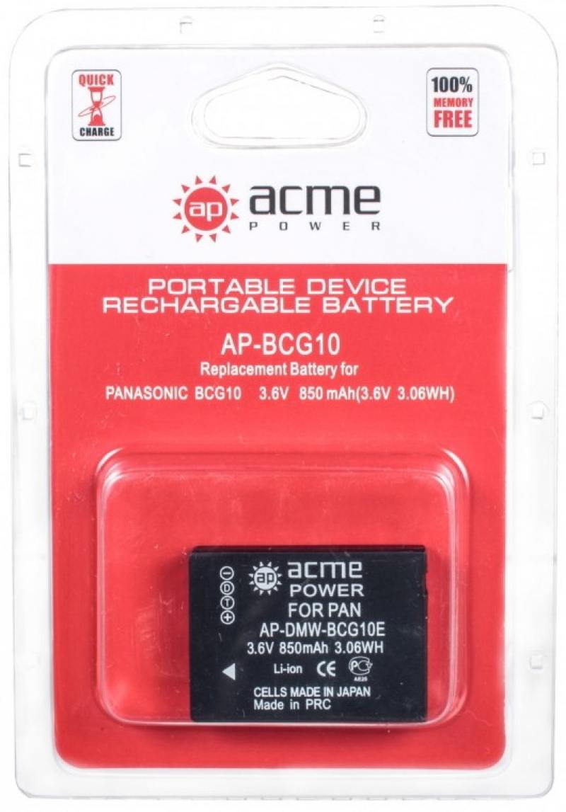 Аккумулятор AcmePower AP-BCN10 для Panasonic Lumix DMC-LF аккумулятор acmepower ap s004e для фотокамеры panasonic