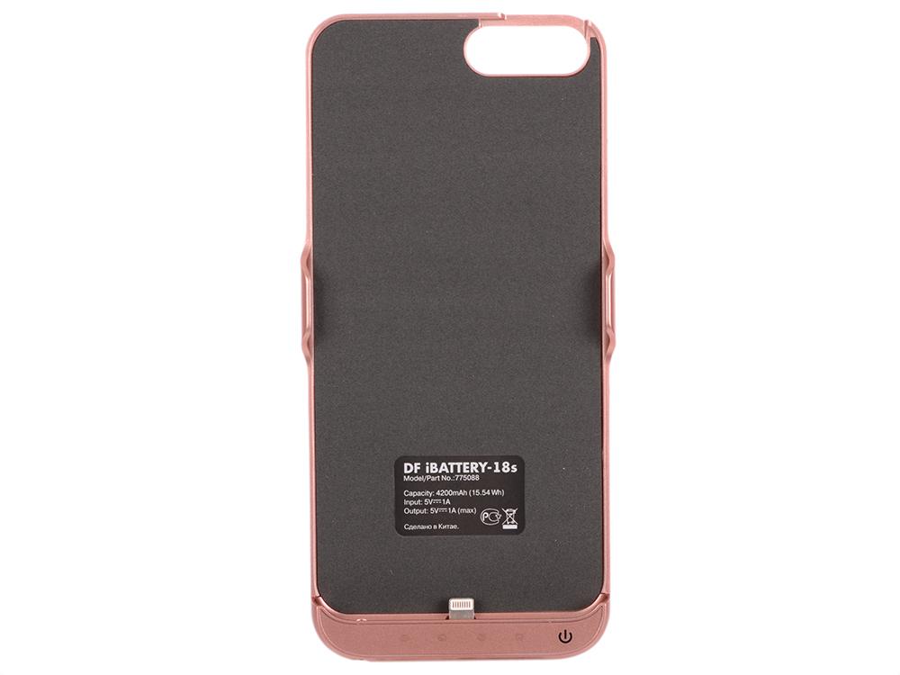 Фото Аккумулятор-чехол для iPhone 6 Plus/6s Plus/7 Plus DF iBattery-18s (rose gold) чехол аккумулятор df ibattery 14s для iphone 6 6s 7 розовое золото