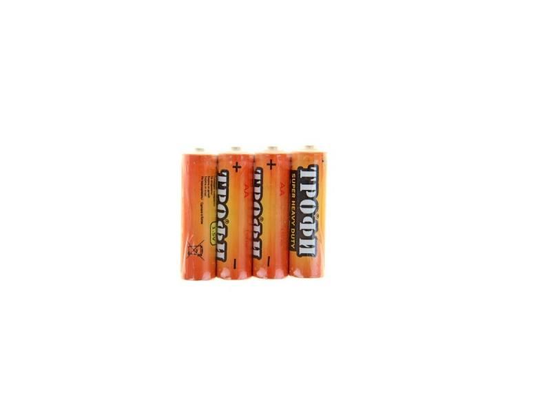 Фото - Батарейки ТРОФИ R6-4S AA 4 шт батарейки defender aa r6 10b 10 шт в блистере 56020