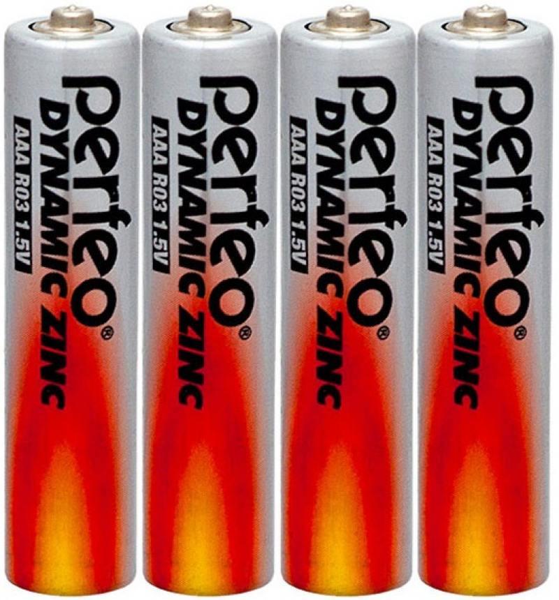 Фото - Батарейки Perfeo R03/4SH Dynamic Zinc AAA 4 шт батарейки defender r03 4f 4 шт aaa 56101
