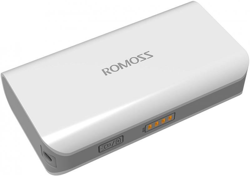 Внешний аккумулятор Romoss solo2 4000mAh белый внешний аккумулятор samsung eb pg930bbrgru 5100mah черный