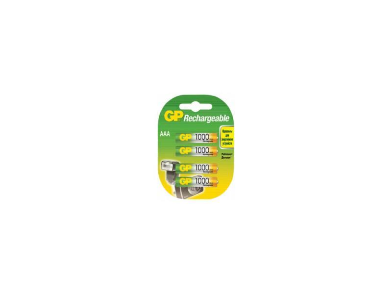 Аккумулятор 1000 мАч GP 100AAAHC-2DECRC4 AAA 4 шт аккумулятор varta 05703301412 1000 мач aaa 2 шт