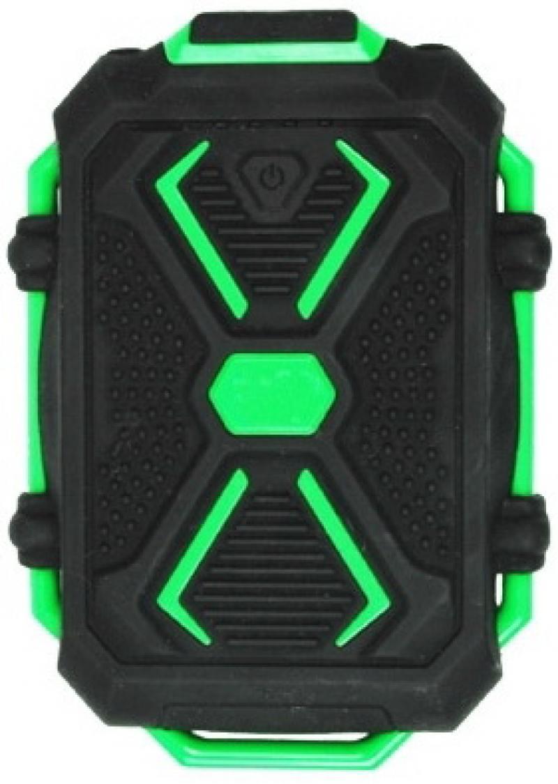 Портативное зарядное устройство Ritmix RPB-10407LST 10400мАч черно-зеленый ritmix rpb 12077p silver внешний аккумулятор 12000 мач