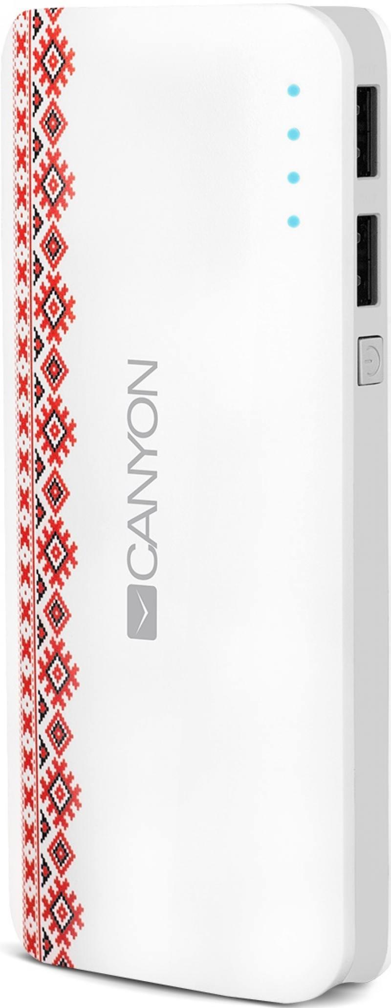 Портативное зарядное устройство Canyon CNE-CPB130V 13000мАч белый портативное зарядное устройство canyon cne cpb100 10000 мач белый