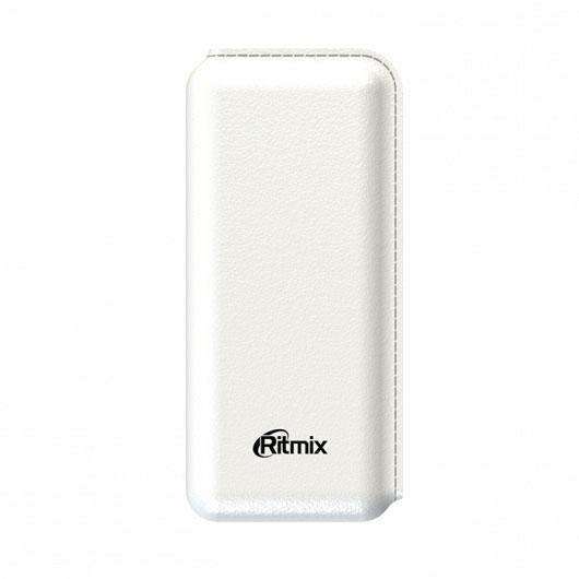 Портативное зарядное устройство Ritmix RPB-10001L 10000мАч белый ritmix rpb 12077p silver внешний аккумулятор 12000 мач