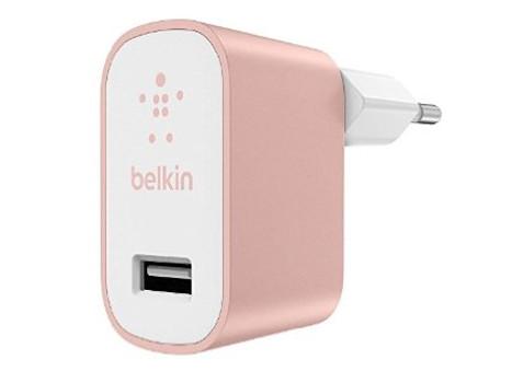 Сетевое зарядное устройство Belkin (F8M731vfC00) USB 2.4A, Rose Gold belkin belkin 302617