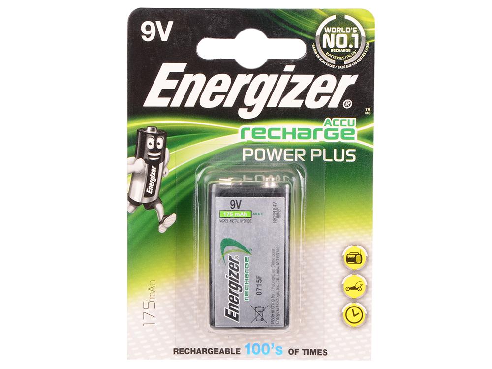 Аккумулятор Energizer HR22 9V (крона) 175mAh (1 штука) (E300320800) (635584) аккумулятор energizer aa hr6 2300mah 4шт