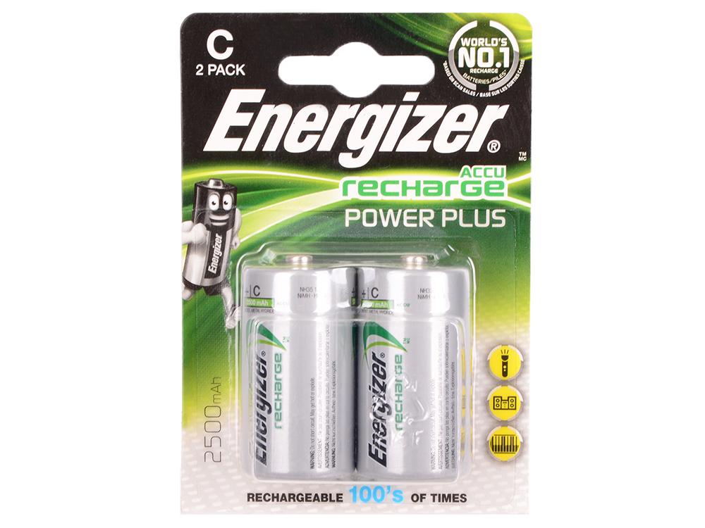 Аккумулятор Energizer Power Plus C 2500 mAh 2шт. в блистере (635674/E300321800) аккумуляторы energizer power plus 2500 mah d 2 шт e300322000 635675