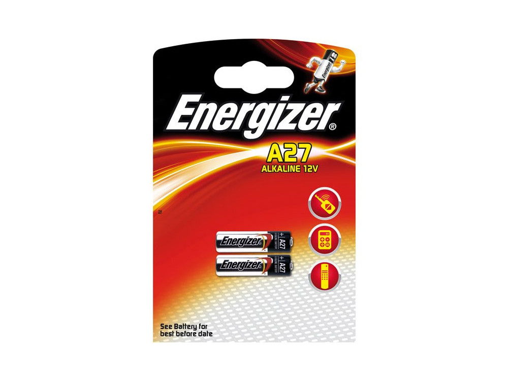 Батарейки Energizer Alkaline A27 (2шт в блистере) (639333) lr1 e90 energizer alkaline 1 штука