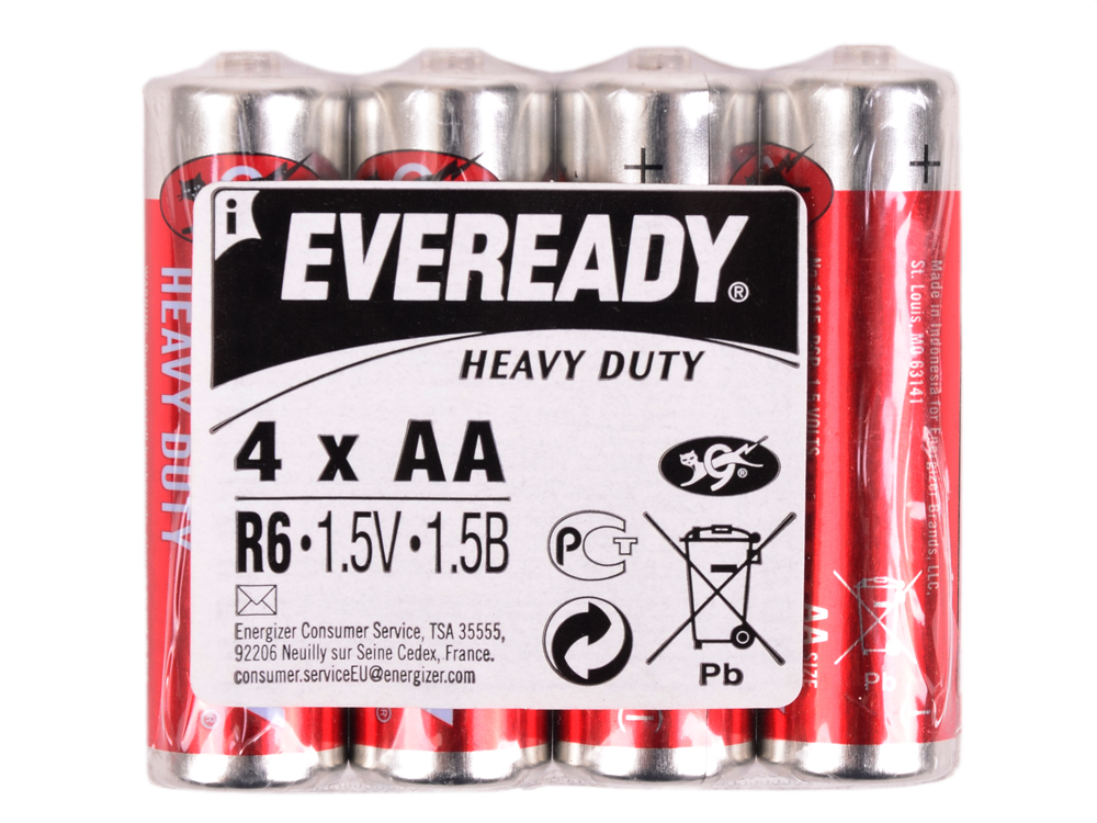 Батарейки Energizer Carbon Zinc Eveready AA 4шт. (637081E301012800)