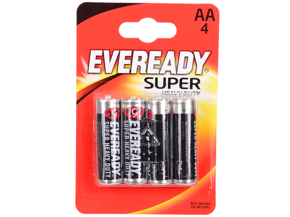 Батарейки Energizer Carbon Zinc Eveready AA 4шт. в блистере (637084) батарейки energizer maximum aa 4шт в блистере 638635