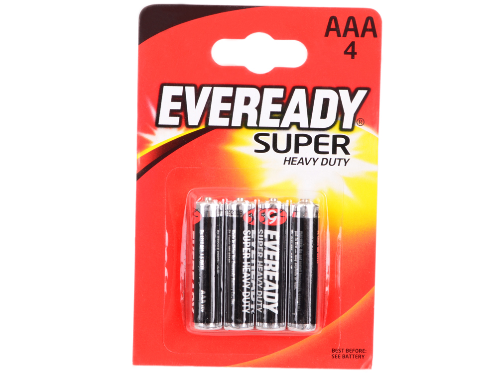 Батарейки Energizer Carbon Zinc Eveready AAA 4шт. в блистере (639608)
