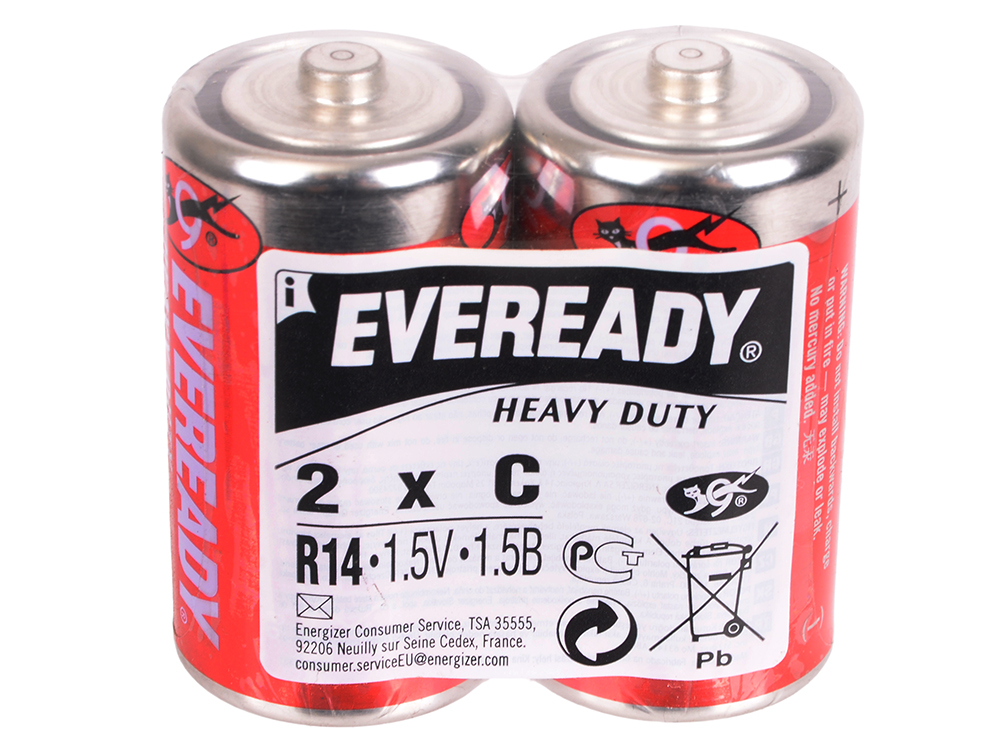 Батарейки Energizer Carbon Zinc Eveready C/R14 2шт. (638772)