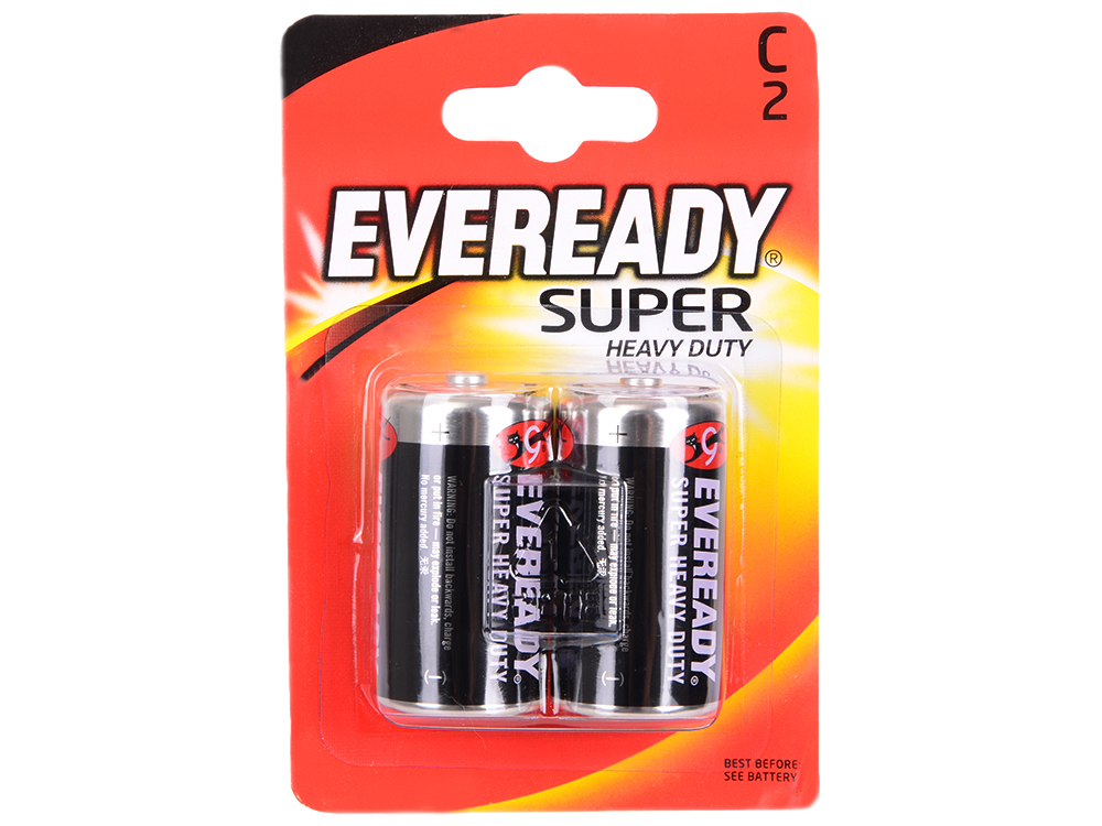 Батарейки Energizer Carbon Zinc Eveready C/R14 2шт. в блистере (638749)