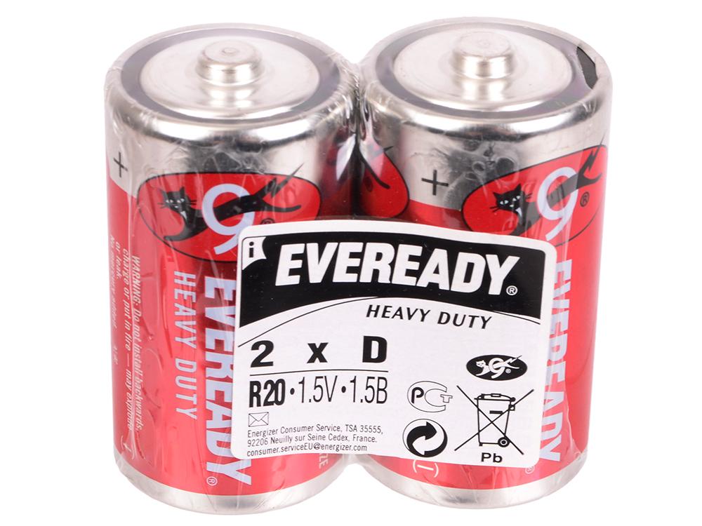 Батарейки Energizer Carbon Zinc Eveready D/R20 2шт. (637083)