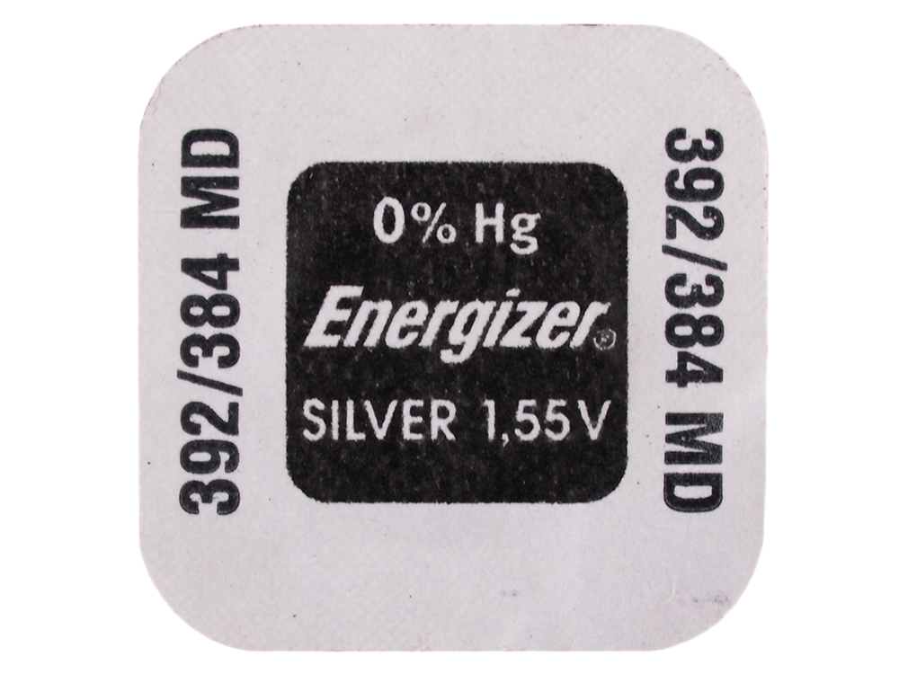 Батарейки Energizer Silver Oxide 392/384 1шт. (634976)