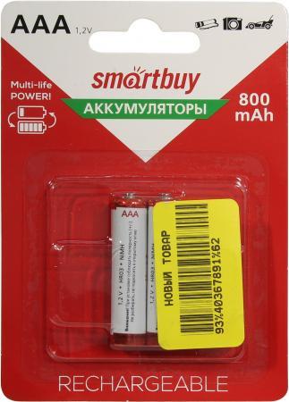 Батарейки Smartbuy SBBR-3A02BL800 AAA 2 шт аккумулятор smartbuy sbbr 3a02bl950 aaa 2 шт