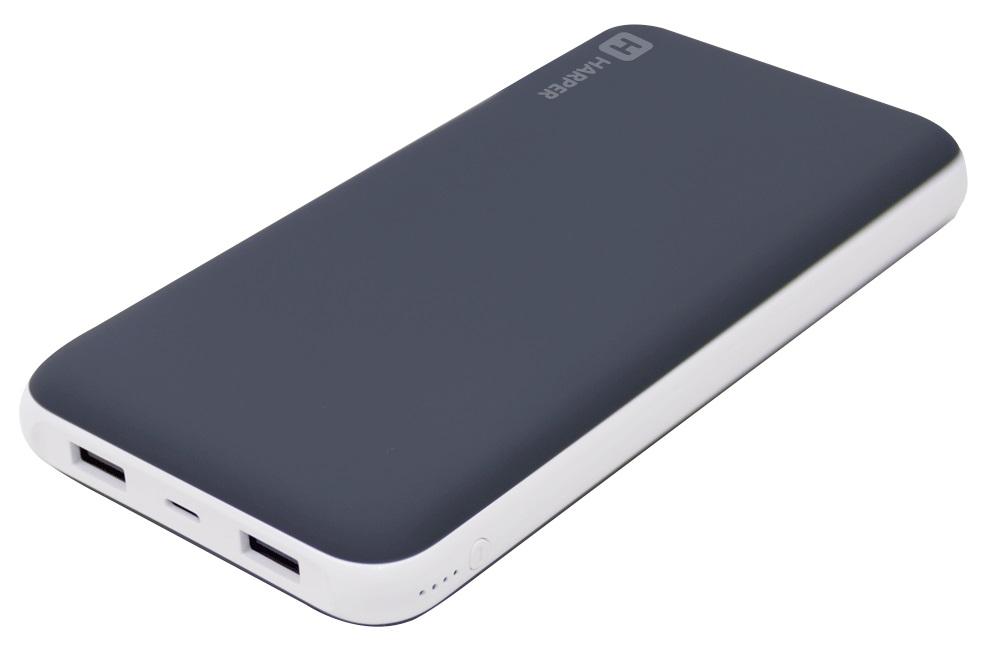 Внешний аккумулятор HARPER PB-20002 20000мAч; Вход microUSB: 5В/1000мA; Выход USB1: 5В/2.1A; Выход USB2: 5В/1A; LED индикатор
