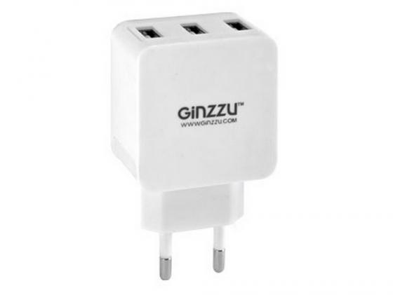 Сетевое зарядное устройство Ginzzu GA-3315UW 5В/3.1A белый все цены