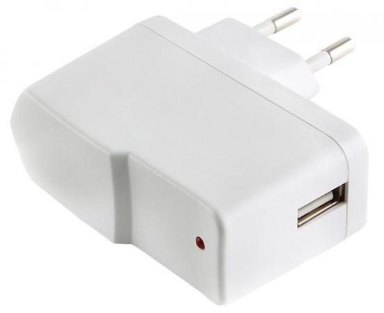 Сетевое зарядное устройство Gembird MP3A-UC-AC1 1A белый цена